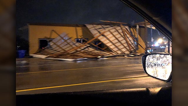 Roof collapsed in Morristown | Photo Ryan Dixon