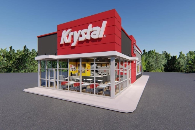 Krystal's new prototype store design | New concept from Krystal's (North Broadway in Knoxville is getting the new look)