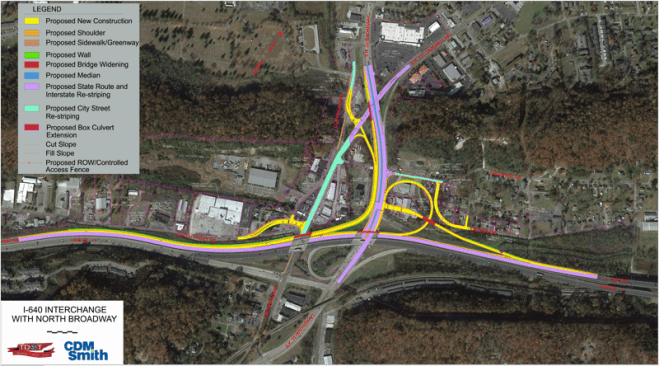 Motorists traveling in Knox County should be aware of upcoming construction that will affect traffic along North Broadway at the I-640 West Interchange.