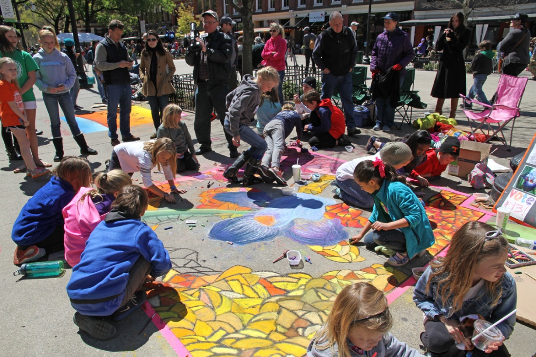 Chalk Walk returns to Downtown Knoxville on Saturday, April 6, 2019. Professional and emerging artists of all ages will turn downtown sidewalks into canvases celebrating the long standing tradition of Italian street painting. All as part of the Dogwood Arts Festival.