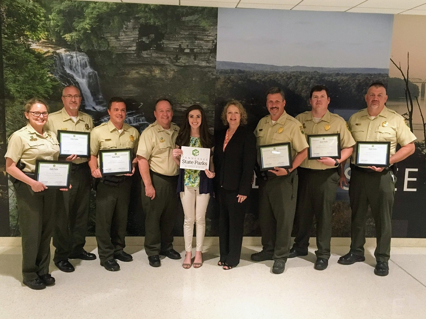Tennessee State Parks Honored for the Go Green With Us Program