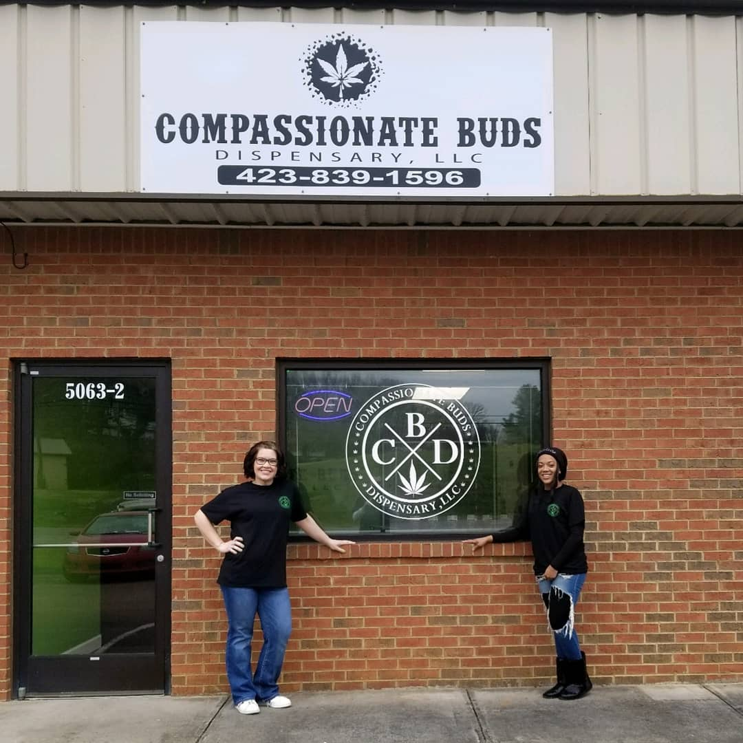 Compassionate Buds Dispensary Grand Opening - On April 20th. Yes 420 Day this business will have it's grand opening. Left to right: Megan Armstrong and Shaleese Moran.