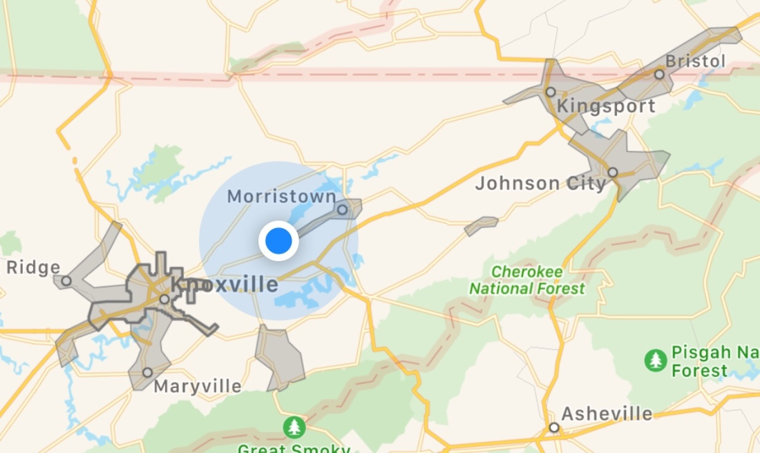 DoorDash coming to more parts of East Tennessee - Some parts are already is set up. Below is a map of the areas. #DoorDash