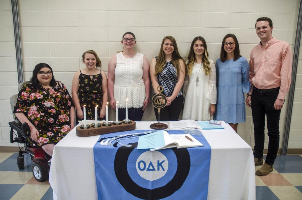 Carson-Newman University inducted students into the Omicron Delta Kappa National Leadership Honor Society