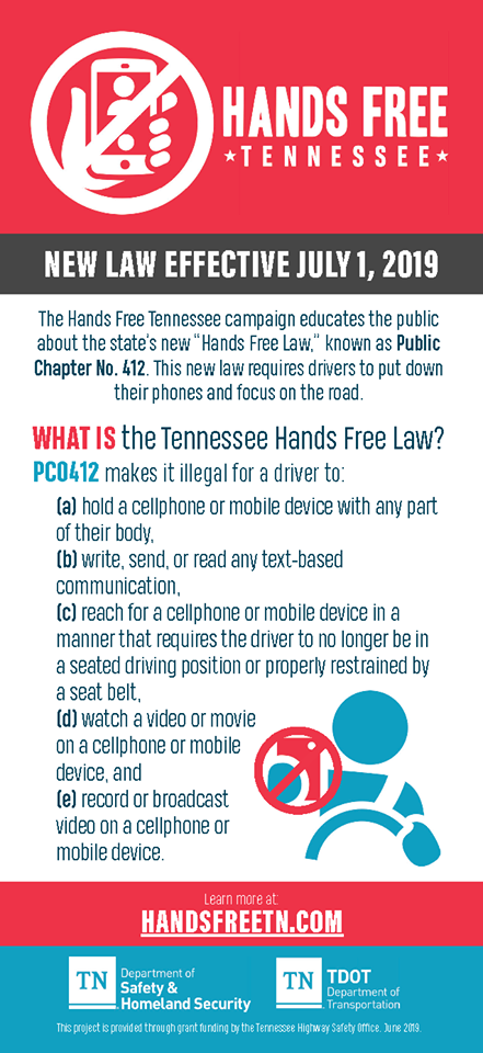 Hands Free Tennessee Law