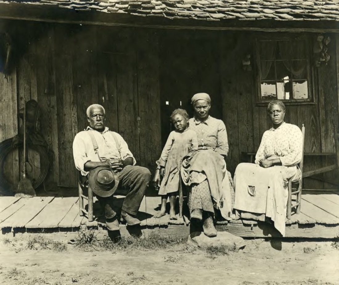 Park Hosts African American History Open House Discussions. Title:                      African American family sitting on the front porch